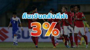 คืนเงินคลับกีฬา 3%