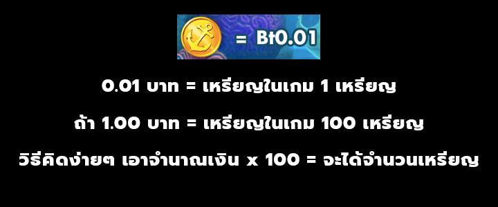 ตัวอย่างวิธีคิดค่าของเหรียญ