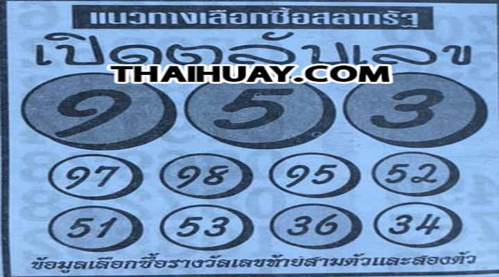 """งวดประจำวันที่ 16 ธันวาคม 2562 """"หวยเปิดตลับเลข""""เลขเด็ดต้องจัด"""