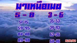 """งวดประจำวันที่ 16 ธันวาคม 2562 """"หวยมาเหนือเมฆ""""เลขสวยๆ"""