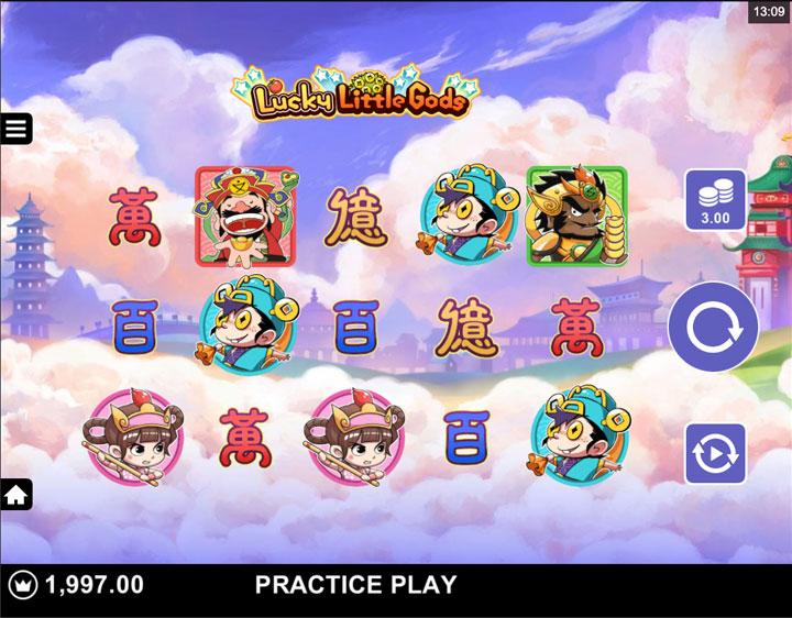 หน้าหลักเกม Lucky Little Gods