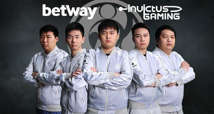 BETWAY ได้เข้าไปเป็นสปอนเซอร์ให้กับทีม INVICTUS GAMING
