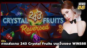 รีวิว การเล่นเกม 243 Crystal Fruits บนเว็บของ WINS88
